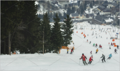 people skiing on a ski slope