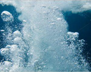 water bubbles deep in ocean