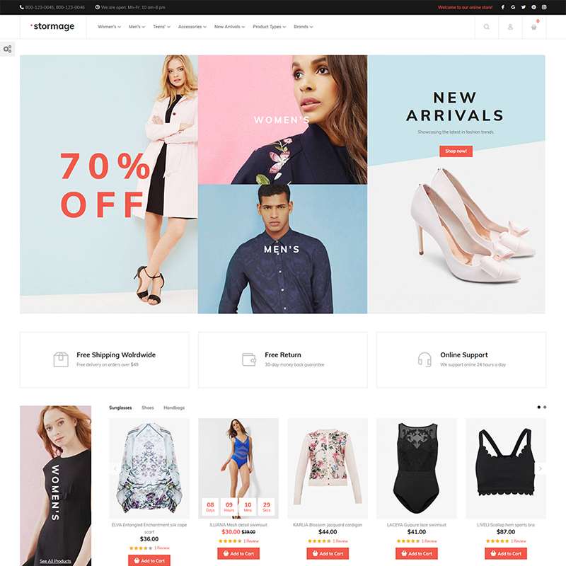 Stormage - Fashion Clothes Magento Template