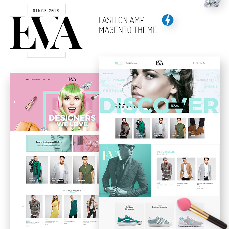 EVA - AMP Fashion Store Magento Theme