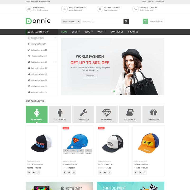 Donnie - Multipurpose WooCommerce Theme