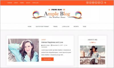 Ample Blog WordPress Theme - Free Download
