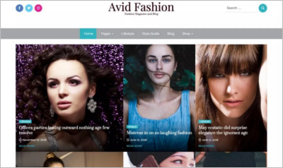 Avid Fashion WordPress Theme - Free Download