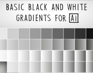 Basic Black And White Gradients