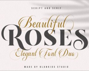 Beautiful Rose - Font Duo