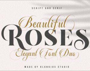 Beautiful Rose - Font Duo