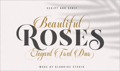 Beautiful Roses - Font Duo