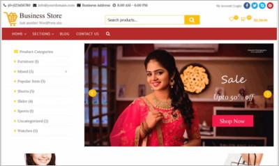 Business Store WordPress Theme - Free Download