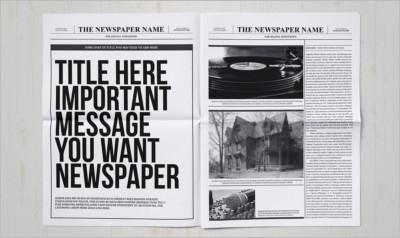 Classy Newspaper Design Template