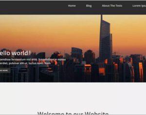 Corporate zing WordPress Theme