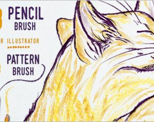 Creative illustrator pencil brushes