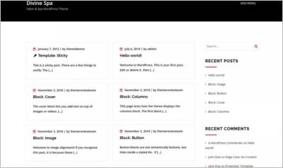 Divine Spa WordPress Theme - Free Download