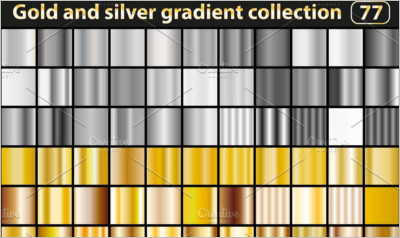 Gold and silver gradient collection