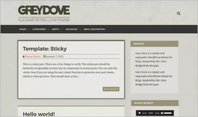 GreyDove WordPress Theme - Free Download