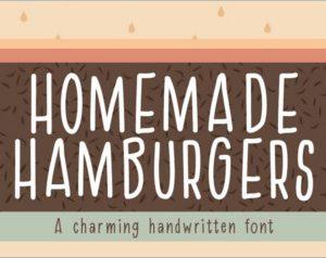 Homemade Hamburgers Font