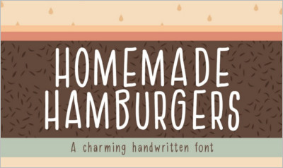 Homemade Hamburgers Font - Free Download