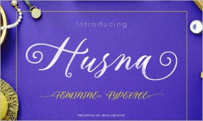Husna Script Feminine Typeface