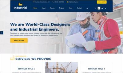 Industrial Lite WordPress Theme - Free Download
