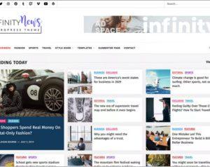 Infinity News WordPress Theme