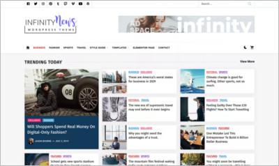 Infinity News WordPress Theme - Free Download
