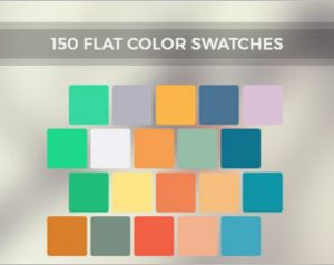 Inspire Flat Color Swatches