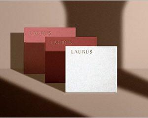 Laurus Embossed Square Cards