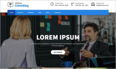 Online Consulting WordPress Theme - Free Download