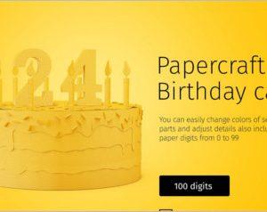 Papercraft Birthday Cake