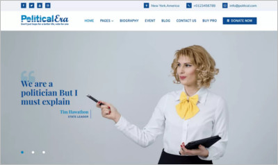 Political Era WordPress Theme - Free Download