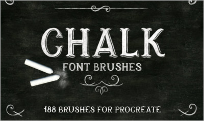 Procreate Chalk font brushes