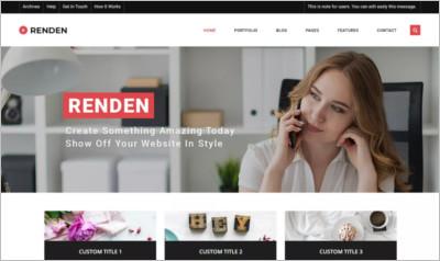 Renden Dark WordPress Theme -Free Download