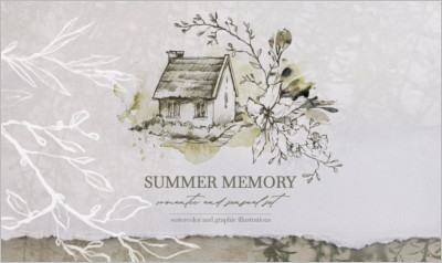 SUMMER MEMORY Watercolor set - Free Download