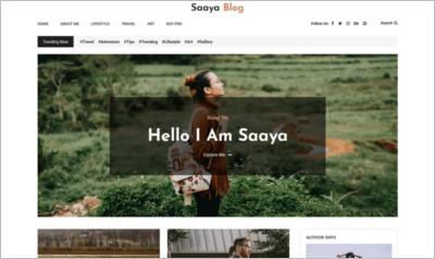 Saaya Blog WordPress Theme - Free Download