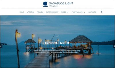 SagaBlog Light WordPress Theme - Free Download