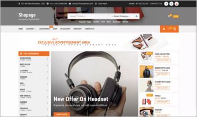 Shopage WordPress Theme - Free Download