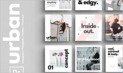 PSD Urban Social Media Pack