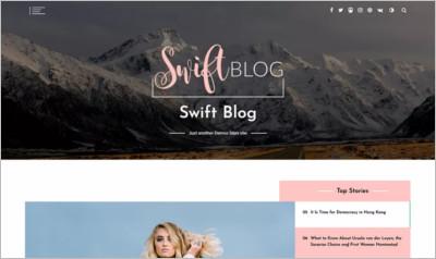 Swift Blog WordPress Theme - Free Download