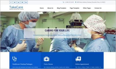 TakeCare WordPress Theme - Free  Download