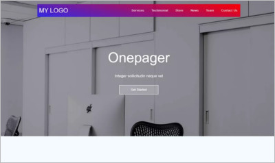 onepagerx WordPress Theme
