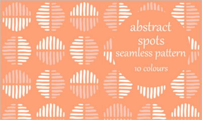 Abstract Spots Block Pattern