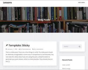 Lessons WordPress Theme