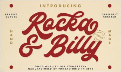 Rocka & Billy - Bold Script Font - Free Download