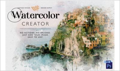 Watercolor Creator - Photoshop Gradients