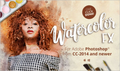 Watercolor FX Photo effect plugin