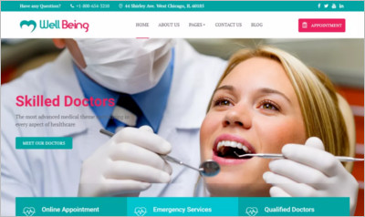 Wellbeing Hospital WordPress Theme - Free Download
