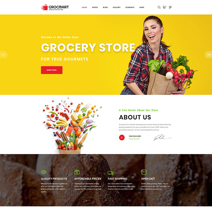 Grocmart Multipage HTML Template