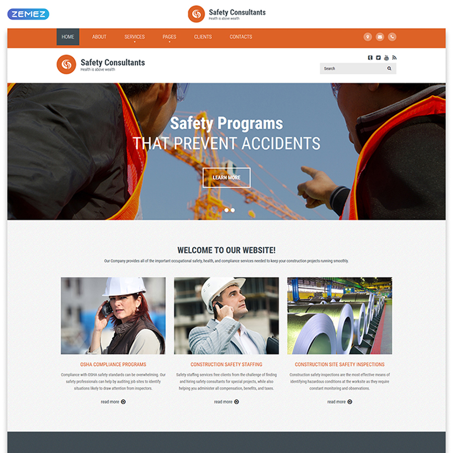 Safety Consultants HTML Template