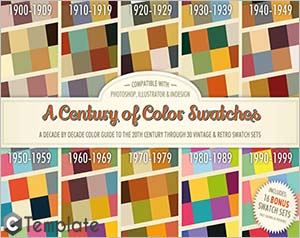 A Century of Color Swatches