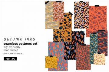 Autumn Inks Pattern Set 1