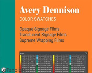 Avery Dennison Color Swatches